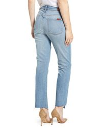 7 For All Mankind Blue 7 For All Mankind Edie Splice Hem High Waist Ankle Jeans