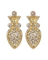 House of Harlow 1960 - Metallic Embellished Teardrop Studded Earrings - Lyst