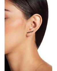 EF Collection - Black Diamond Zig Zag Left Ear Cuff - 0.08 Ctw - Lyst