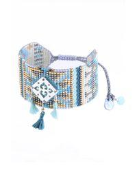 Mishky - Blue Lys Beaded Tassel Charm Bracelet - Lyst