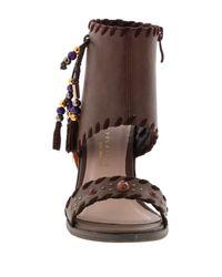 Very Volatile - Brown Boho Tassel Cuff Sandal - Lyst