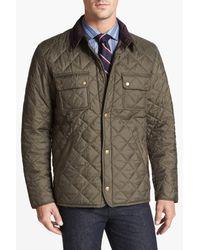 Barbour Green 'tinford' Regular Fit Quilted Jacket for men