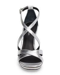 Calvin Klein - Metallic Vonnie Platform Sandal - Lyst