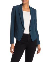 Theory Blue Robiva Modern Crepe Jacket