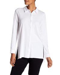 Eileen Fisher - White Classic Collar Shirt - Lyst