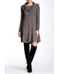 Max Studio - Gray Cowl Neck A-line Dress - Lyst