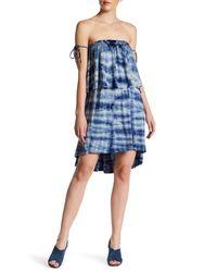 Go Couture | Blue Tie Strap Hi-lo Shift Dress | Lyst