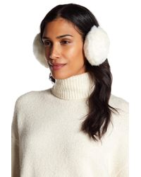 Shiraleah White Lisle Faux Fur Earmuffs