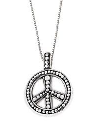 Lori Bonn - Metallic Bb Sweets Sterling Silver Hippie Chick Token Pendant Necklace - Lyst