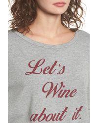 Project Social T - Gray Let's Wine About It Sweatshirt - Lyst