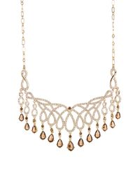 Carolee - Multicolor Teardrop Fringe Openwork Frontal Necklace - Lyst