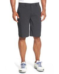 Travis Mathew Black Travis Mathew 'hefner' Stretch Golf Shorts for men