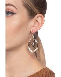 Alexis Bittar Metallic Two-tone Orbiting Sculptural Drop Earrings