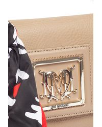 Love Moschino - Multicolor Pebble Monogram Flap Shoulder Bag - Lyst