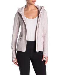 90 Degrees Pink Fleece Hoodie Jacket