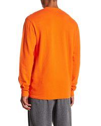 Polo Ralph Lauren - Orange Waffle Knit Crew Neck Long Sleeve Shirt for Men - Lyst