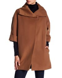 James Jeans Brown Paulina Shawl Collar Coat