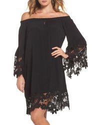 Muche Et Muchette - Black Jolie Lace Accent Cover-up Dress - Lyst