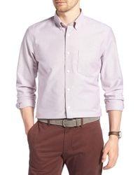 1901 Purple Slim Fit Washed Oxford Shirt for men