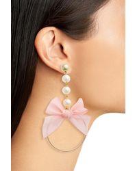 Cara - Metallic Bow Drop Earrings - Lyst