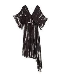 Young Fabulous & Broke Black Starla Wrap Midi Dress
