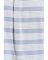 Grayers - Blue Sheffield Trim Fit Stripe Chambray Sport Shirt for Men - Lyst