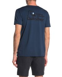 Quiksilver Blue Short Sleeve Bouncing Heart Tee for men