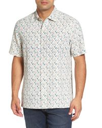 Tommy Bahama - Multicolor Alcazar Tiles Standard Fit Silk Camp Shirt for Men - Lyst