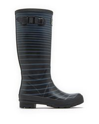 Joules - Black Wellyprint Tall Rain Boot - Lyst