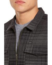 RVCA - Black Lamar Shirt Jacket for Men - Lyst