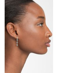 Freida Rothman - Metallic Contemporary Deco Triple Drop Earrings - Lyst