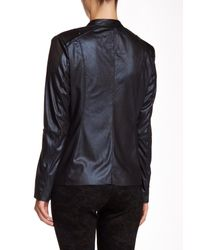 Insight Multicolor Cracked Faux Leather & Faux Suede Jacket