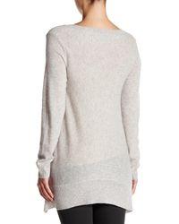 Sofia Cashmere - Gray Trapeze V-neck Cashmere Sweater - Lyst