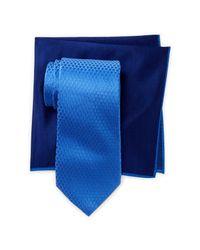 Ted Baker Blue Links Silk Tie & Pocket Square Set for men