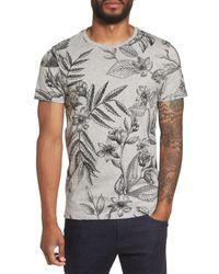 Ted Baker | Black Peggi Floral Print T-shirt for Men | Lyst