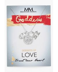 Melinda Maria - White Goddess Love Neck Nk - Lyst