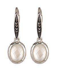 Judith Jack - Sterling Silver Swarovski Marcasite & White Mother Of Pearl Drop Earrings - Lyst