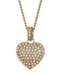 Judith Jack | Metallic Reversible Pave Heart Necklace | Lyst