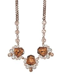 Givenchy - Brown Crystal Drama Frontal Necklace - Lyst
