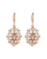 Givenchy - Metallic Crystal Cluster Drop Earrings - Lyst