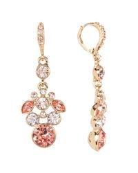 Givenchy - Metallic Crystal Chandelier Earrings - Lyst