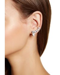 Marchesa - Multicolor Medium Crystal Crawler Earrings - Lyst