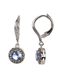 Judith Jack - Metallic Marcasite & Crystal Detail Drop Earrings - Lyst