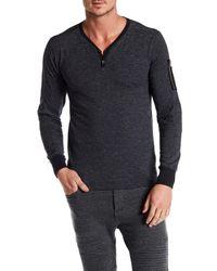 William Rast | Gray Maverick Henley Pullover for Men | Lyst