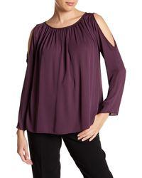 98b20beae974a Lyst - Amanda Uprichard Landon Top in Purple