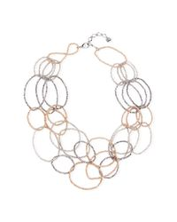 Saachi | Gray Smokey Oval Ring Crystal Necklace | Lyst
