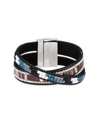 Saachi - Black Radiance Leather Bracelet - Lyst