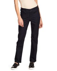 NYDJ Blue Marilyn Pocket Accent Straight Jeans (petite)