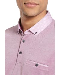 Ted Baker - Purple Woven Collar Polo for Men - Lyst