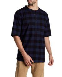 Alternative Apparel | Blue Crusade Short Sleeve Flannel Shirt for Men | Lyst